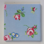 Clarke and Clarke Rosebud Powder Blue Ceramic Wall Tiles